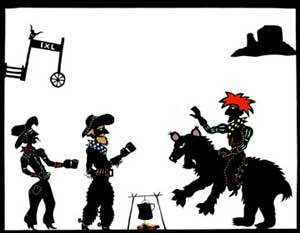 Western shadow puppets.
