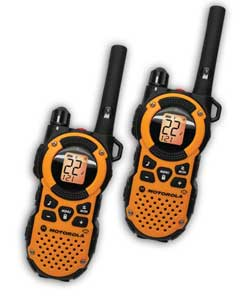 Two walkie-talkies flying over the forest.