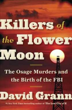 Killers of the Flower Moon book jacket