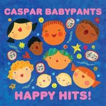 album cover, Happy Hits! by Caspar Babypants