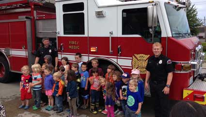 Storytime at Port Angeles Fire Department