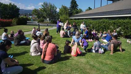 Storytime outdoors!