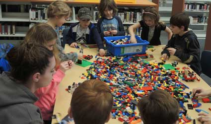 picture of people building with LEGO® bricks
