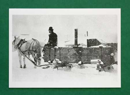 Horse and Wagon in Snow